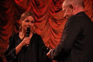 """Tova Magnusson på premiären av """"Fyra år till"""""""